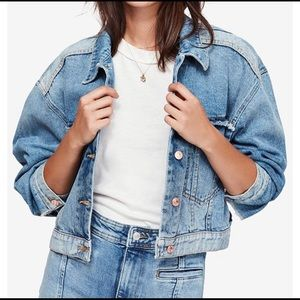 Free People Bedford Cotton Cropped Denim Jacket